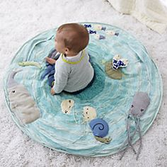 Sale ends soon. Shop Be on the Sea Activity Floor Mat. Marine themed baby activity mat lets your baby explore the wonders of the seven seas from the comfort of the nursery. Baby Activity Chair, Baby Activity Gym, Activity Mat, Sea Activities, Infant Activities, Bebe Love, Diy Bebe, Baby Store, Baby Play