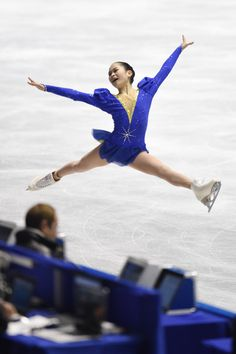 Satoko Miyahara of Japan competes in the Ladie's Short Program during the day one of the ISU World Team Trophy at Yoyogi National Gymnasium on April 16, 2015 in Tokyo, Japan.