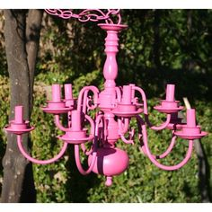 Find it at the Foundary - Sadie 10 Arm Chandelier - Pretty Pink