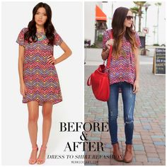 Merricks Art: MINI DRESS TO TOP REFASHION