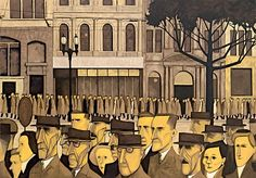 One of my favorite Australian artists, John Brack.  Great representation of industrialized Melbourne.