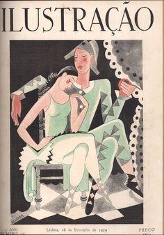 Almada Negreiros - Capa da Revista Ilustração, número 76, de 16 de Fevereiro de 1929 - Hemeroteca Municipal de Lisboa