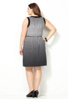 Ombre Square Sheath Dress-Plus Size Sheath Dress-Avenue