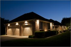 soffit lights exterior | Down lights can be mounted in the soffit to ...