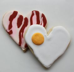 You're the Bacon to My Eggs Valentine Gift Box with 4 Mega Cookies - MADE TO ORDER