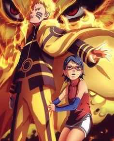 Naruto Uzumaki e Sarada Uchiha
