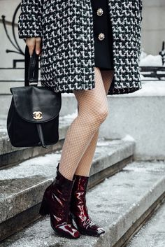 Nude Fishnets Chanel Bag  | Jenny Cipoletti of Margo & Me