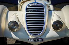 1934 Alfa Romeo 8c Zagato Grille - Car photographs  by Jill Reger