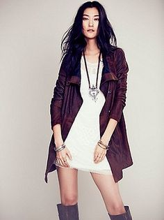 such a great #freepeople leather coat
