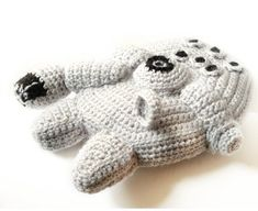 Millennium Falcon #crochet pattern. May the force be with you! #StarWars