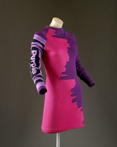 Dress by Designer: Christian Francis Roth (American, born 1969) Date: ca. 1990 Culture: American Medium: wool Dimensions: Length at CB: 32 1/2 in. (82.6 cm) Credit Line: Gift of Amy Fine Collins, 1994