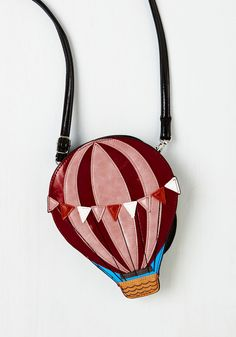 Up and Hooray Bag. Sail the skies of style with this fun and festive hot air balloon bag! #red #modcloth