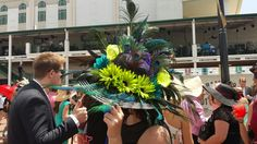 Hat from 140th Kentucky Derby #kyderby #SpringAffair #hats # derby fashion