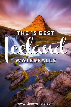 A Complete Guide to the 15 best Iceland waterfalls including a waterfall map and photography tips to take a bucket list waterfall adventure. Go beyond Reykjavik to see Skogafoss, Gullfoss, Seljalandsfoss,and more - THE EVOLISTA Iceland Travel Tips, Europe Travel Guide, Travel Guides, Travel Destinations, Travel Packing, Solo Travel, Budget Travel, European Destination, European Travel