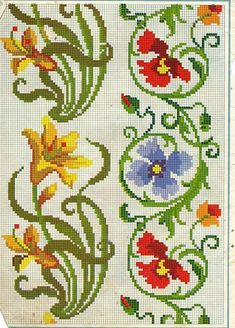 borders (lilies, poppies?)
