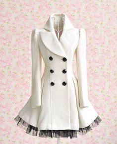 Dámský dlouhý kabát Black #http://pinterest.com/savate1/boards/ Women's Fashion coat in chilly weather.