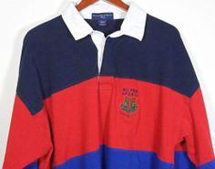 Vtg Abercrombie & Fitch Rugby Polo Shirt Large All Field Sport Multi Colored #BlackFriday #eBay #TreatYourself http://r.ebay.com/1rLpIX