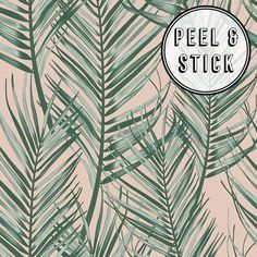 Transform Transform Palm Green/Pink Vinyl Peelable Roll (Covers 30.75 sq. ft.)-108335 - The Home Depot Palm Wallpaper, Modern Wallpaper, Vinyl Wallpaper, Wallpaper Roll, Peel And Stick Wallpaper, Removable Wallpaper For Renters, Pink And Green Wallpaper, Renters Wallpaper, Paradise Wallpaper