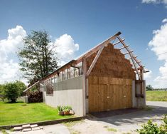 Atelier in barn style with a beautiful natural light coming in