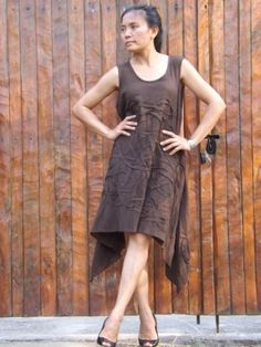 Dress ...Summer Dress ....Color Brown by sutima for $33.00