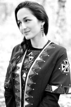 Georgian woman in traditional  Caucasus people