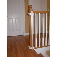 Kidco Stairway Gate Installation Kit - If you are planning to install a stairway gate, there's no need to drill into staircase woodwork. This installation kit is compatible with hardware and pressure mount gates at both the top or bottom of the stairs. Child Safety Gates, Gate Hardware, Baby Gates, Dog Gates, Pet Gate, Thing 1, Banisters, Gate Design, House Design