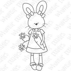 Easter digi bunny girl carrot spring