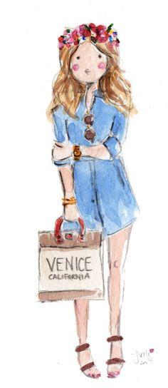 Summer (illo by Jennifer Vallez) #venicebeach #summer