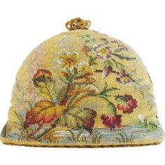 Beautiful  Antique Victorian Beadwork Tea Cozy Antique, vintage, retro tea pots, teaspoons, tea caddy, tea strainer and tea clothes at Ruby Lane www.rubylane.com @rubylanecom #antiquetea