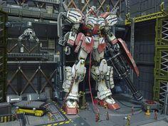 "Gunpla Diorama: ""The Last Stand"" [1/100 Fighter Gundam Heavy Arms weathered]. Modeled by Robert Liem Cun [Indonesia]"