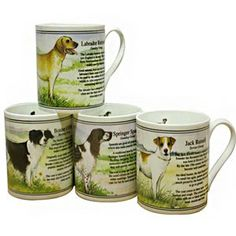 Bisley Dog Mug Set The finest bone china mugs manufactured in Staffordshire the home of the Pottery Industry Our range of china mugs make ideal gifts China Mugs, Mugs Set, Gifts For Family, Bone China, Pottery, Range, Tableware, Dogs, Ceramica