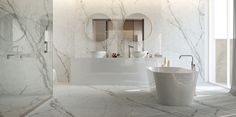 Textured Marbles - Qstone Washroom, The Ordinary, Double Vanity, Flooring, Marbles, Interior Design, Faucets, Architecture, Respect