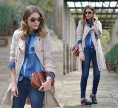 DOUBLE DENIM (by Mireia MDS) http://lookbook.nu/look/4774361-Mih-Jeans-Nike-Sneakers-Double-Denim