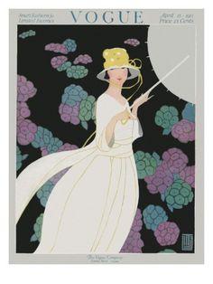 Vogue Cover - April 1917 Poster Print  by Alice de Warenne Little at the Condé Nast Collection