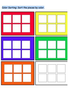 Sort by Color File Folder Work Task-very generic, could be used with many manipulatives