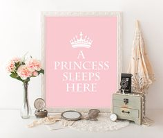 Princess Print 8x10 Instant Download A by MossAndTwigPrints
