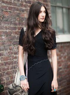 Jacquelyn Jablonski in a black dress. What an effortless beauty