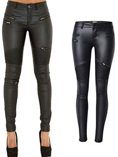 9b3b74a0c9eeb Shop a great selection of lexiart PU Leather Denim Pants Women Sexy Tight  Stretchy Rider Leggings Black Coffee. Find new offer and Similar products  for ...