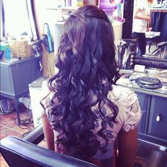updo wavy curls long hair Bridal Hair by Aimee J'Adore