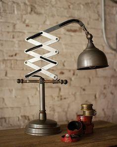Industrial Vertical Scissor Table Lamp | Madison + Parker