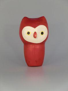 Libuse Niklova Plastic Squeaky Toy Owl