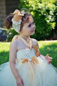 Beautiful-Girls-Crochet-Long-Tutu-Dress-Kids-Handmade-Fluffy-Tulle-Tutus-with-Flower-Headband-Children-Party.jpg (563×850)