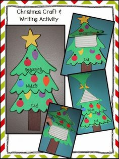 Christmas Tree Craft - Perfect for any Christmas story! #HollieGriffithTeaching #TeachingInDecember #TeacherCreatedResources