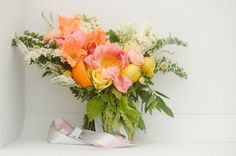 citrusy bouquet by Supposey Florals