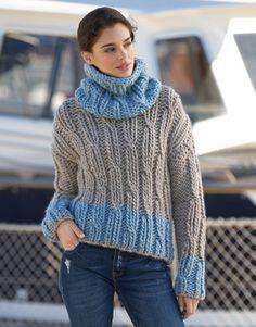 Book Woman Sport 90 Autumn / Winter | 16: Woman Sweater | Medium beige / Light blue