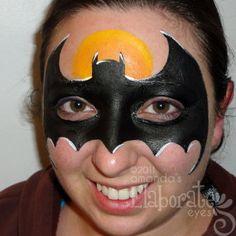 Bat Man Mask Face Paint