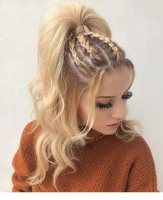 Coiffure tresse pour cheveux longs - hair styles for short hair - Hair Styles Short Hair Styles, Natural Hair Styles, Hair Styles Teens, Girls Long Hair Styles, Hip Hop Hair Styles, Hair Styles Summer, Long Hair Ponytail Styles, Hair Twist Styles, Ponytail Ideas