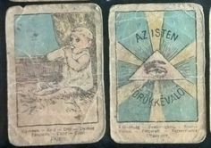 ANTIQUE  GIPSY FORTUNE TELLING CARDS - Art Nouveau cards: RARITY!!! - ca 1900-1910 * Only 9 cards  * HAND COLORED! * Production:  Hungary The charming images depict various life circumstances from around 1900. The captions are in 8 languages. *  * The cards show strong age related signs of wear. * Size: 55x82 mm * Price: 1 piece 20€, 9 pieces 150€ * Shipping: 9 pieces Free, 1 piece 6€ - Europa, USA