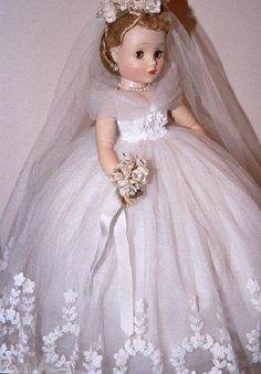 1950s Madame Alexander bride doll.
