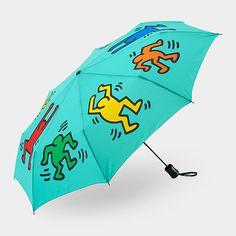 UNIQLO Keith Haring Turquoise Umbrella | MoMAstore.org